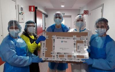 La planta 6ª del hospital Santa Bárbara de Soria nos muestra su agradecimiento por recibir las pantallas protectoras.