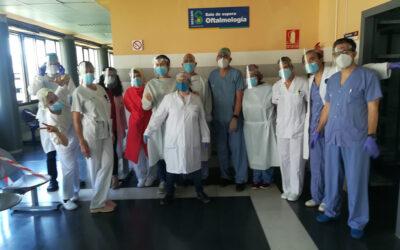 El Servicio de Oftalmología del hospital Virgen de la Luz en Cuenca nos agradece el envío de las pantallas protectoras.