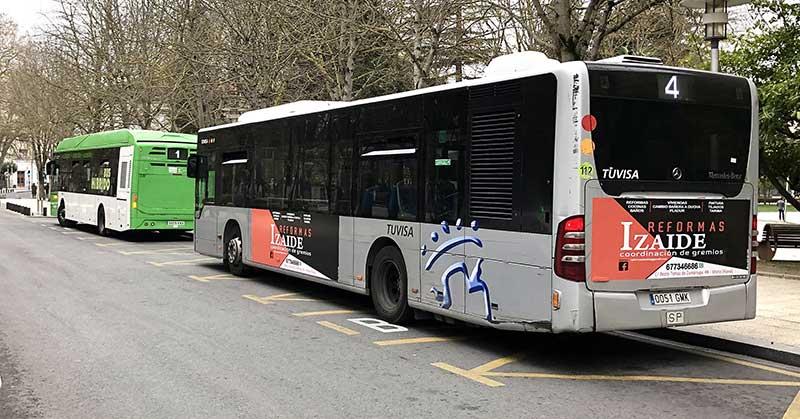 Izaide Reformas, campaña en los autobuses urbanos de Vitoria-Gasteiz